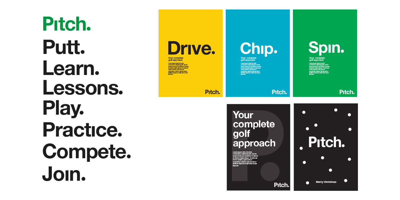 Pitch typography & promotions